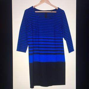 Ann Taylor Striped Blue dress